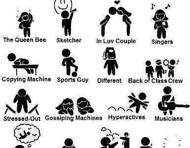 Types of People in an American School
