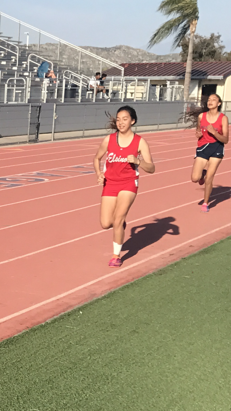 Clariece Obispo during the 3200 meter run.