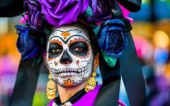 MEXICO CITY, MEXICO - OCTOBER 29: A young woman dressed as La Catrina, a Mexican pop culture icon that represents Death, performs during the Day of the Dead festival on October 29, 2016 in Mexico City, Mexico. Day of the Dead is a syncretic religious holiday that combines the death veneration rituals of the ancient Aztec culture with the Catholic practice, is celebrated throughout all Mexico. (Photo by Jan Sochor/Latincontent/Getty Images)