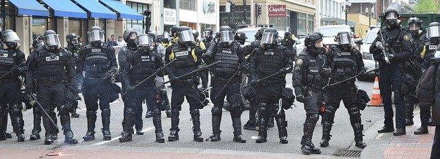 Demonstration Police Protest Portland Riot