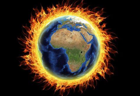 Burning Earth Global Warming Burning Destruction