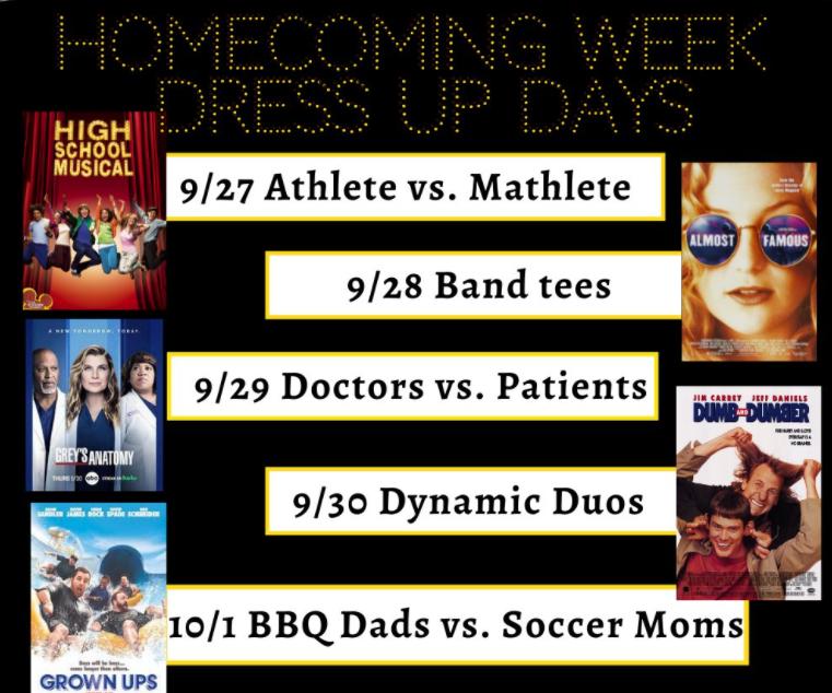 Homecoming Week Dress Up Days